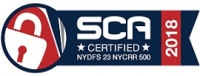 SCA Certified NYDFS 23 NYCRR 500 2018